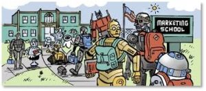 Marketing School, R2-D2, C3-PO, Terminator, Robots