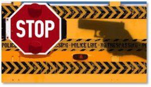 stop school shooting, police line, gun violence