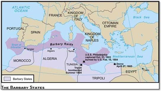 Barbary State, Morocco, Algeria, Tunisia, Tripoly,