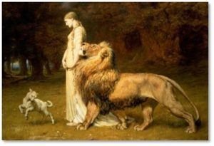 Una and Lion, Briton Riviere, in like a lion, March weather