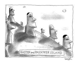 Easter and Passover Island, cartoon, Arnie Levin