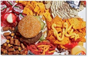processed food, low-fiber food, food additives, chemicals