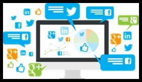 social media, Facebook Twitter, Google, LinkedIn