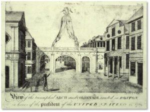 Charles Bulfinch, Triumphal Arch, Boston, George Washington