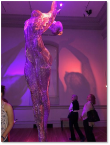 Burning Man, statue of woman, Renwick Gallery