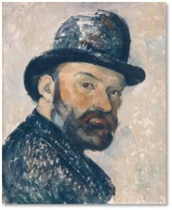 Paul Cezanne, Self Portrait with a Bowler Hat, National Gallery, Cezanne Portraits