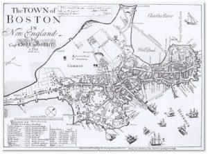 Boston, Shawmut Peninsula, Captain John Bonner, Washington Street. Boston Neck