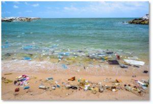 floating plastic trash, plastic trash on the beach, litter, jetsam