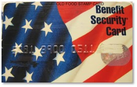 Benefit Security Card, food stamps, food shopping