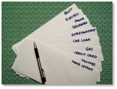 Budget Envelopes, food shopping, household budgeting