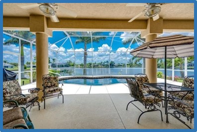 Florida home, waterfront view, new home