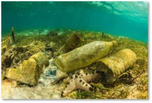 plastic trash, bottom of the ocean, garbage