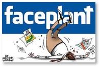 Faceplant, Facebook, failing