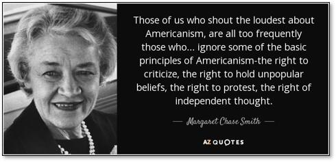 Margaret Chase-Smith, Declaration of Conscience, Four Horsemen of Calumny, Joseph McCarthy