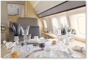 private jet, interior, billionaire,