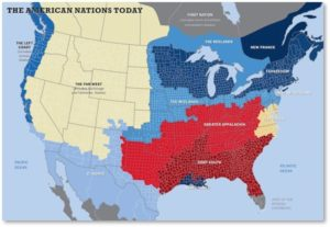 American Nations Today, America Divided, divisive politics, issues and questions