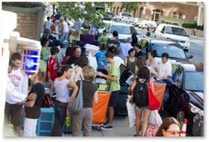 Move-In Day, Boston University, Boston, Storrow Drive