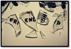 Borken Freindships, broken glass, friendships end