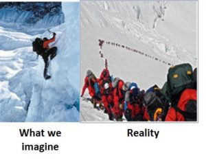 Mount Everest, reality, mountain climbing, expedition