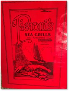 Pieroni's Sea Grill Menu, Giuseppe Pieroni