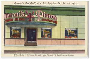 Pieroni's Sea Grill, Washington Street, Boston, Giuseppe Pieroni,
