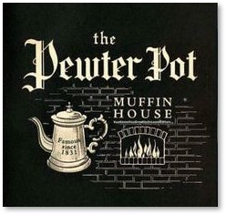 Pewter Pot Muffin House, Boston, Logo, Vicent J. Catania