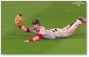 Andrew Benintendi, ALCS, Boston Red Sox, Fexway Park, final out
