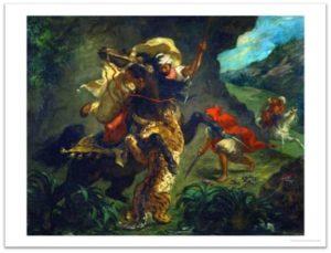 Eugene Delacroix, Tiger Hunt, Metropolitan Museum of Art