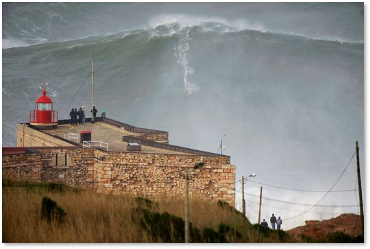 Garrett McNamara, Nazare, Portugal, big-wave surfing, 100-foot wave