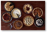 pies, Thanksgiving pie, pumpkin pie, pecan pie, whipped cream