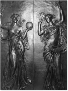 Daniel Chester French, Truth, Romance, bronze doors, Boston Public Library, BPL