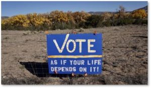 vote as if your life depends on it, because it does, election day, voting