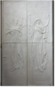 maquesttes, Wisdom, Knowledge, bronze doors, Daniel Chester French, Chesterwood