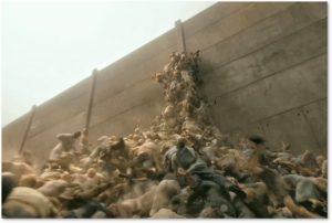 World War Z, zombies, Jerusalem, the wall, caravan of migrants, media