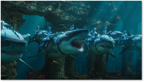 Aquaman, great white sharks, undersea army