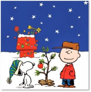Charley Brown, Snoopy, Christmas Tree