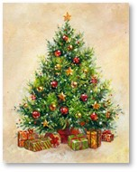 Christmas Tree, real gifts of Christmas