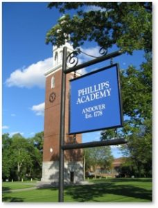 Phillips Academy Andover MA, George H. W. Bush, elites, prep school
