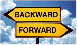 backward-forward,, road sign