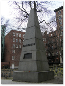 Josiah Franklin, Old Granary Burying Ground, Franklin Monument, Abiah Folger,