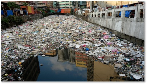 plastic waste , plastic pollution, polluted canal, drowning in plastic