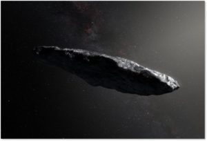 Oumuamua, Avi Loeb, alien craft, astronomers, artist's rendering
