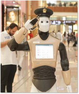 robot, security guard, policeman, Dubai, shopping mall