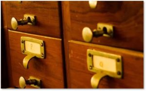 card catalog, French-Canadian genealogy, research