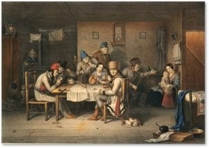 French-Canadian Habitants Playing at Cards, Cornelius Krieghoff, French-Canadian genealogy
