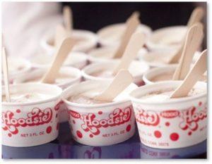 Hoodsie Cups, ice cream, wooden spoons, New England