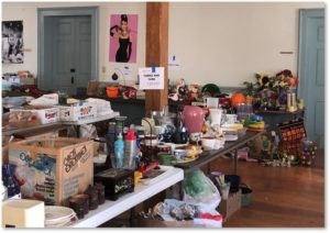 rummage sale, housewares, holiday decorations, First Parish of Sudbury