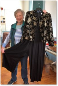 June Hopkins, rummage sale, First Parish, evening outfit