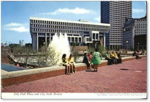 Boston City Hall, City Hall Plaza, Government Center, waterfall fountain