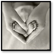 mother love, baby feet, love, motherhood